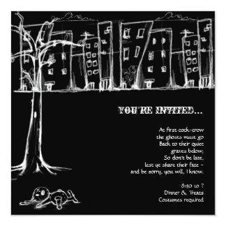 Grunge Grafitti Halloween Party Invitations