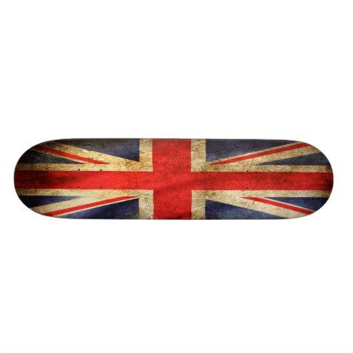 Grunge Great Britain flag skateboard deck