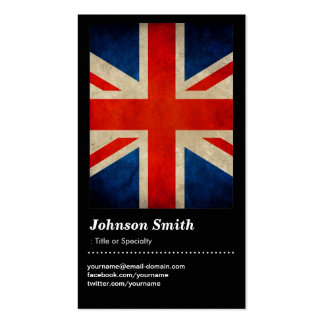 Grunge Great Britain UK Flag Union Jack Business Card