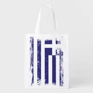 Grunge Greece Flag Reusable Grocery Bag