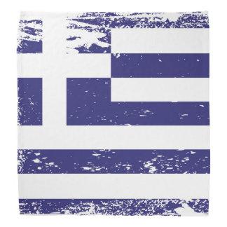 Grunge Greece Flag Bandana