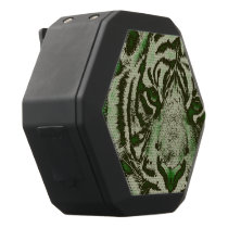 Grunge Green Abstract Tiger Black Bluetooth Speaker