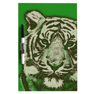 Grunge Green Abstract Tiger Dry Erase Board