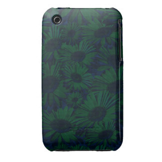 Grunge Green and Blue Floral Case-Mate iPhone 3 Case