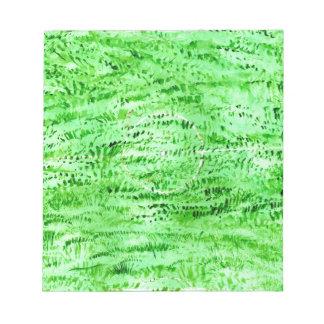Grunge Green Background Notepad