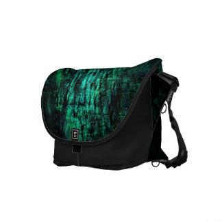 Grunge Green Black Rickshaw Messenger Bag