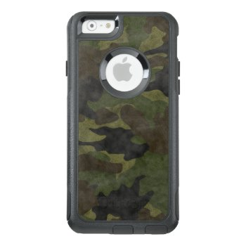 Grunge Green Camo Camouflage Otterbox Iphone 6 6s Otterbox Iphone 6/6s Case by sunnymars at Zazzle