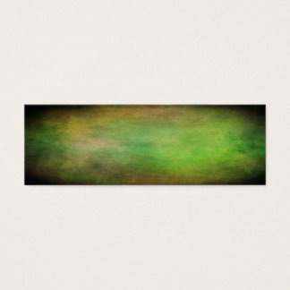 Grunge green colors of the forest with vignette mini business card