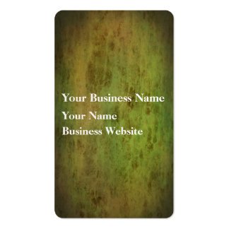 Grunge green leather look texture business card