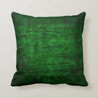 Grunge Green Paint abstract art Throw Pillow