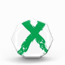 Grunge Green Ribbon Award