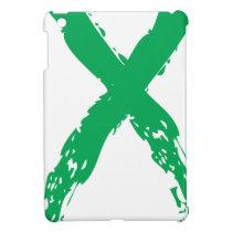 Grunge Green Ribbon Cover For The iPad Mini