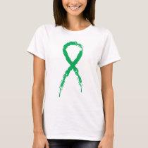 Grunge Green Ribbon T-Shirt