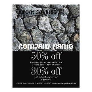 grunge grey stone texture construction business flyer