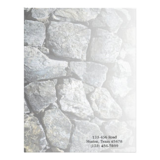 grunge grey stone texture construction business custom letterhead