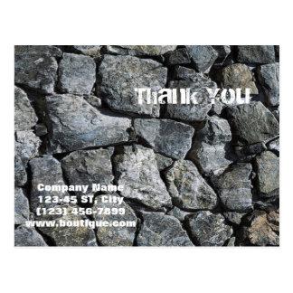grunge grey stone texture construction business postcard