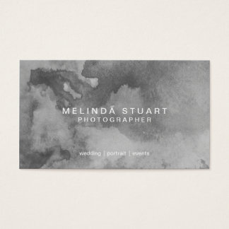Grunge Grey Watercolor Business Card