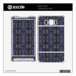 grunge gris azul marino calcomanías para HTC HD2