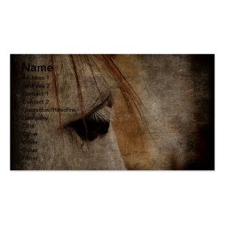 Grunge gris del caballo tarjetas de visita