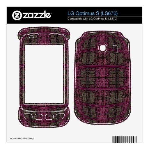 grunge gris rosado oscuro skins para LG optimus s