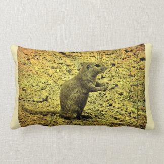 Grunge Ground Squirrel Lumbar Pillow