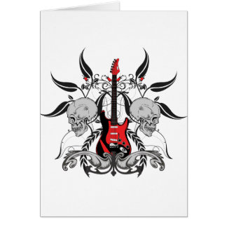 Grunge Guitar and Skull Card