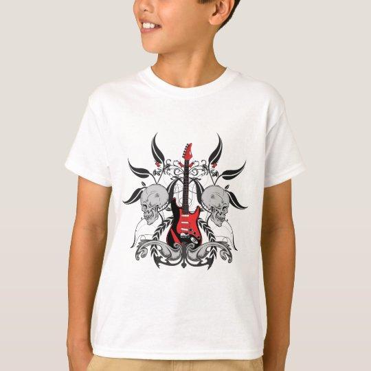 Grunge Guitar and Skull T-Shirt