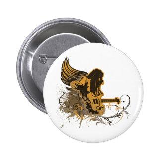 grunge guitar angel dude 2 inch round button