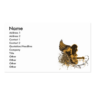 grunge guitar angel dude Double-Sided standard business cards (Pack of 100)