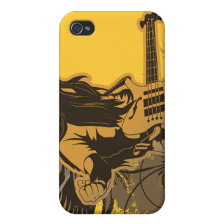grunge guitar angel dude cover for iPhone 4