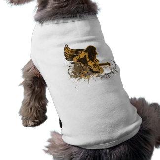 grunge guitar angel dude dog t-shirt