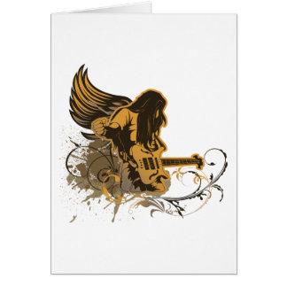 grunge guitar angel dude greeting card