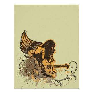 grunge guitar angel dude letterhead