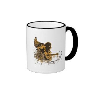 grunge guitar angel dude ringer coffee mug