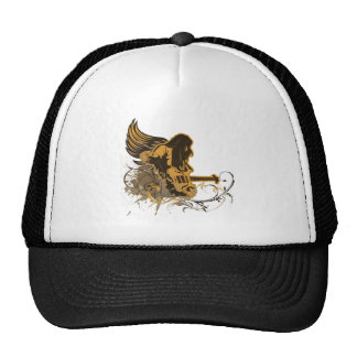 grunge guitar angel dude trucker hat