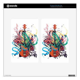 Grunge Guitar Illustration 2 Kindle Fire Skins