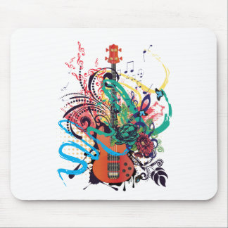 Grunge Guitar Illustration 2 Mouse Pad