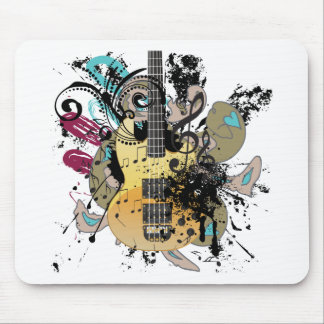Grunge Guitar Illustration 4 Mouse Pad