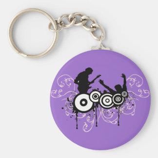 Grunge Guitar Keychain