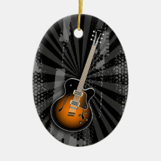 Grunge Guitar Ornament