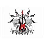 Grunge Guitar Post Card