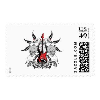 Grunge Guitar Stamp