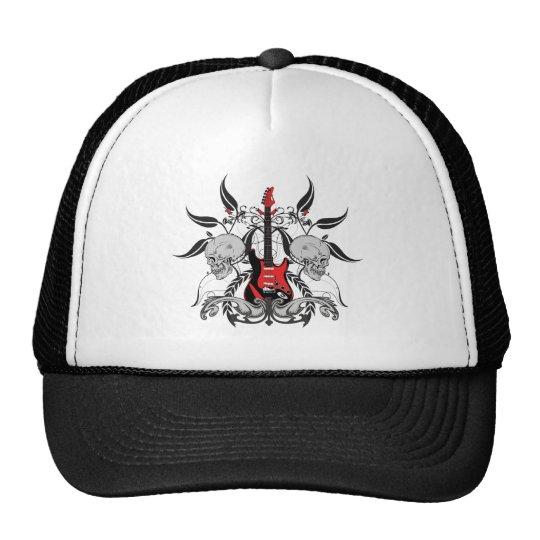 Grunge Guitar Trucker Hat