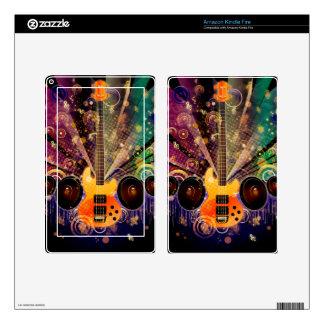 Grunge Guitar with Loudspeakers 2 Kindle Fire Skins