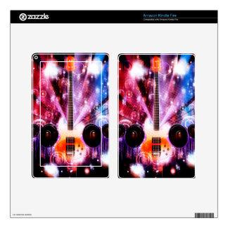 Grunge Guitar with Loudspeakers 3 Kindle Fire Skin