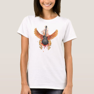 Grunge Guitar with Wings T-Shirt