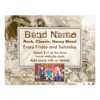 Grunge Guitars Concert Flyer