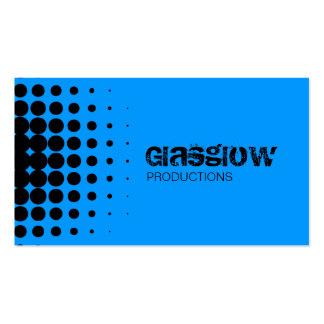 Grunge Halftone Blue Business Cards