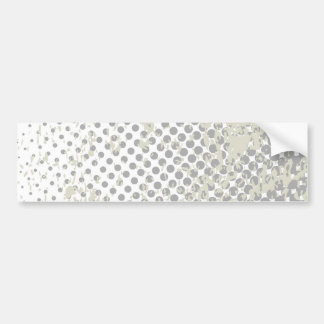Grunge Halftone Style Dot Matrix Bumper Sticker