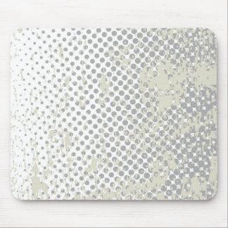 Grunge Halftone Style Dot Matrix Mouse Pad